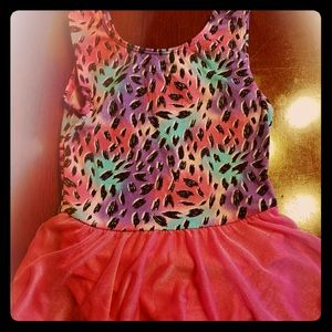 Dance leotard with attached skirt